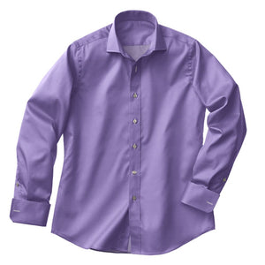 Lavender Satin Stretch Shirt