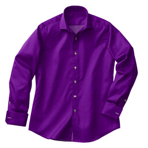 Purple Satin Stretch Shirt