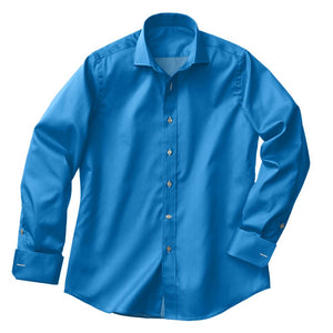 Turquoise Twill Stretch Shirt