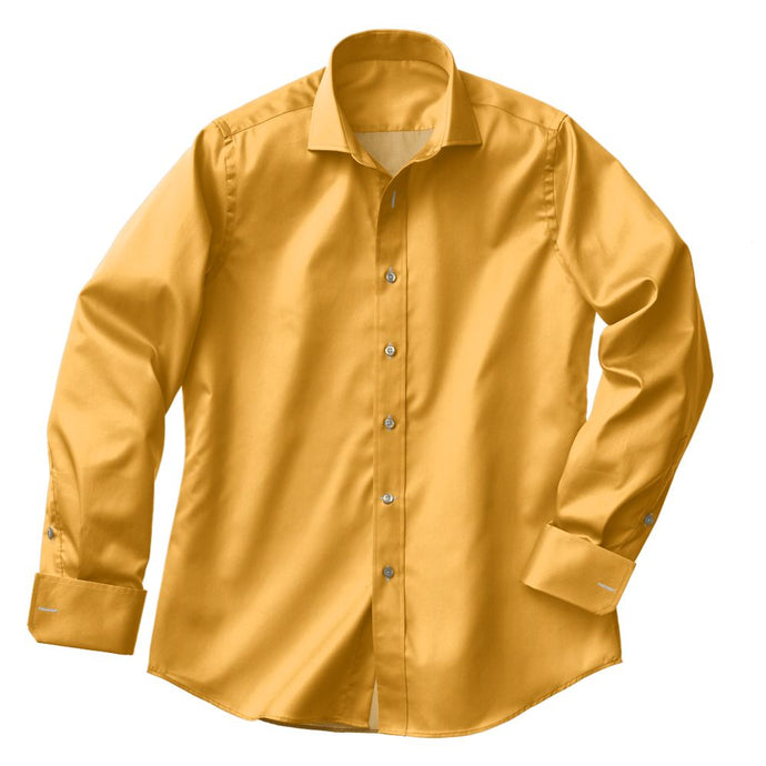 Peach Twill Stretch Shirt