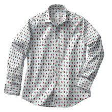 Load image into Gallery viewer, Ivory Floral Stripe Stretch Shirt