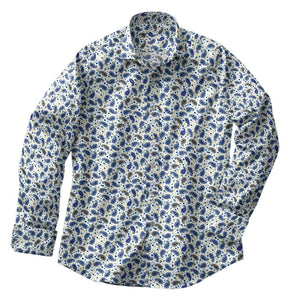 Periwinkle Paisley Stretch Shirt