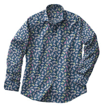 Load image into Gallery viewer, Emerald Paisley Stretch Shirt