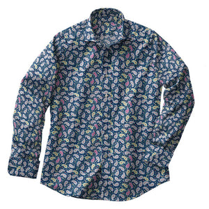 Emerald Paisley Stretch Shirt