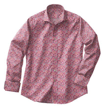 Load image into Gallery viewer, Pink Floral Stretch Shirt