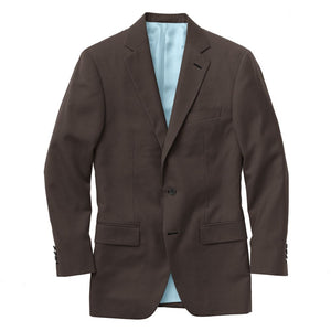 Brown Solid Suit