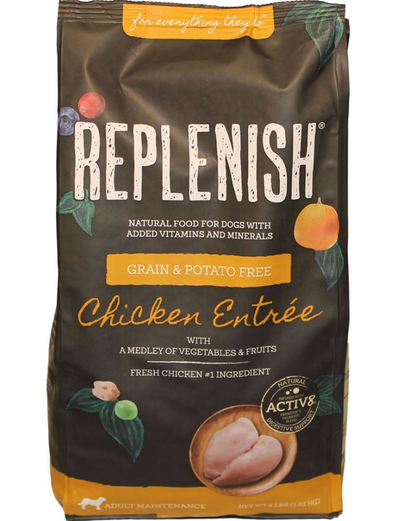 REPLENISH K9 DOG FOOD WITH ACTIVE 8 - CHICKEN