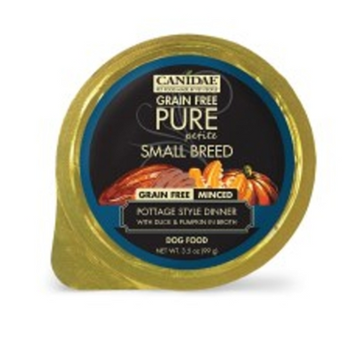 CANIDAE PURE PETITE SMALL BREED MINCED WET FOOD - DUCK