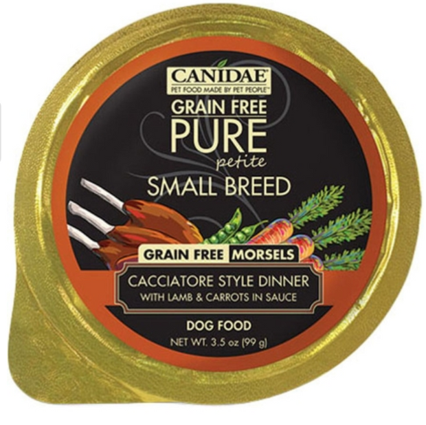 CANIDAE PURE PETITE SMALL BREED MORSEL WET FOOD - LAMB