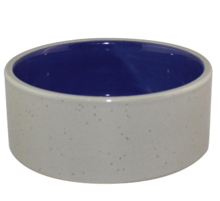 LARGE ROUND CERAMIC PET BOWL