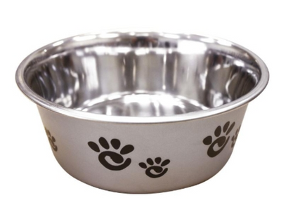 BARCELONA PEARLIZED SILVER STAINLESS STEEL BOWL
