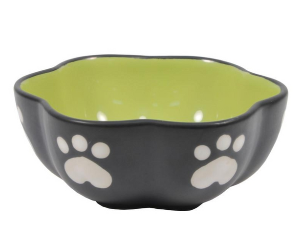 VIENNA CERAMIC PET BOWL - GREEN