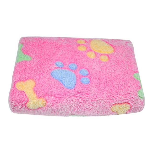 Soft Coral Fleece Bed Blankets for Small Medium Large Dogs