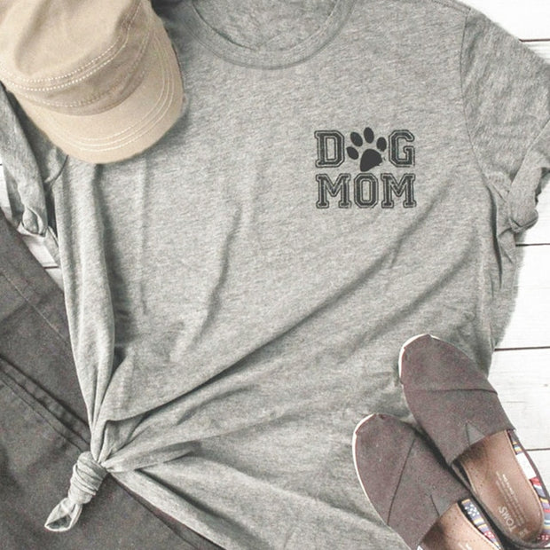 Dog Mom  Funny Casual  T Shirt for Women