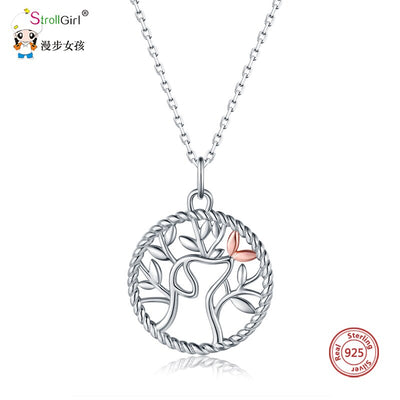 Life & Dog Pendant Necklaces - 925 Sterling Silver Tree of  Life