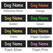 Custom Reflective Dog ID Tag for use with Harnesses