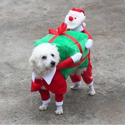 Dog costume -  Santa carrying gifts
