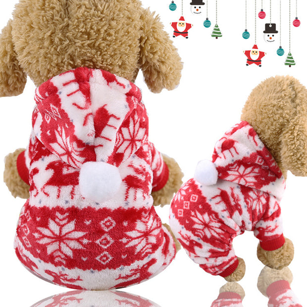 Winter Snowflake Soft Fleece Dog Jacket