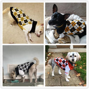 Cozy Plaid Dog Sweaters For Small Medium Dogs