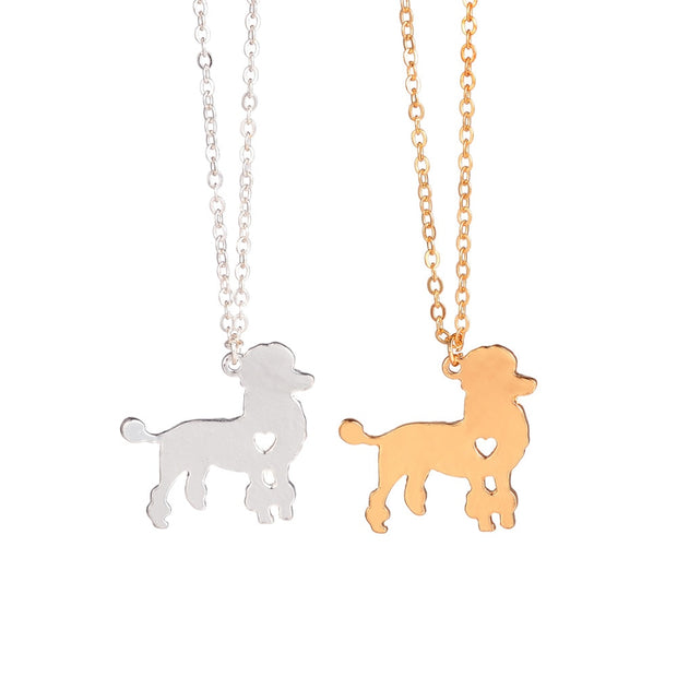 Gold Silver 1pc Fashionable Poodle Necklace