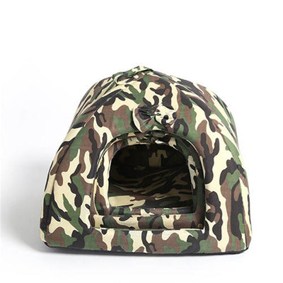 Camouflage Pet Dog House - Foldable Soft