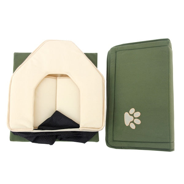 Dog Bed Soft Dog House & Blanket Option