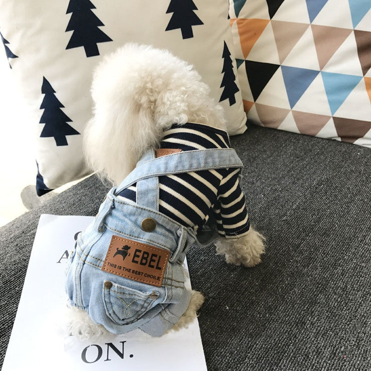 Denim Jumpsuit / Dungarees for Small Dogs