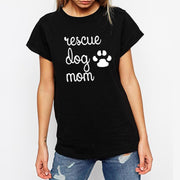 Rescue Dog Mom Paw Print  Harajuku Style