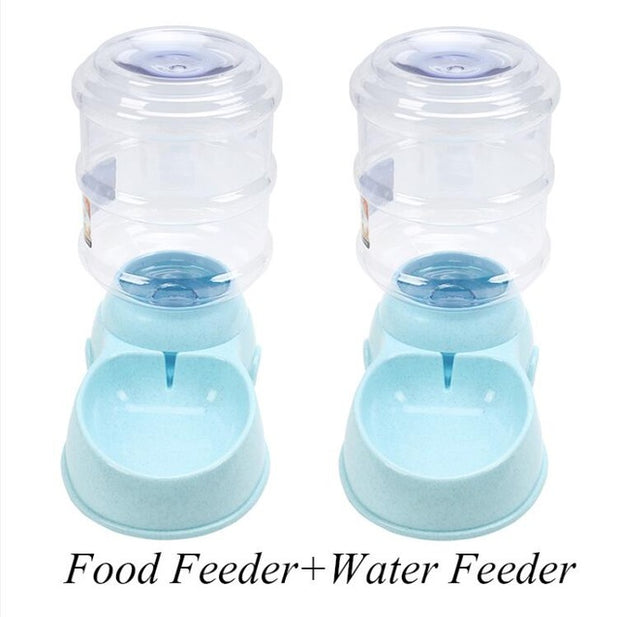Automatic Pet Feeder / Drinking Water Fountains -  Large Capacity holds 3.75L