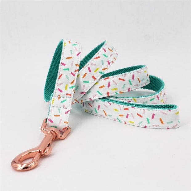 Girl Dog Collar Sprinkles Pattern Bow Tie