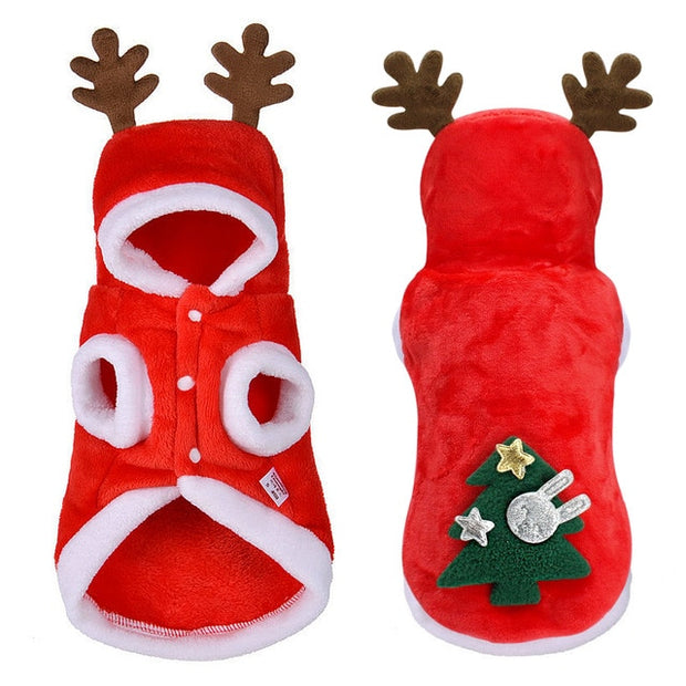 Christmas Clothes for Small Dogs - Santa Costume