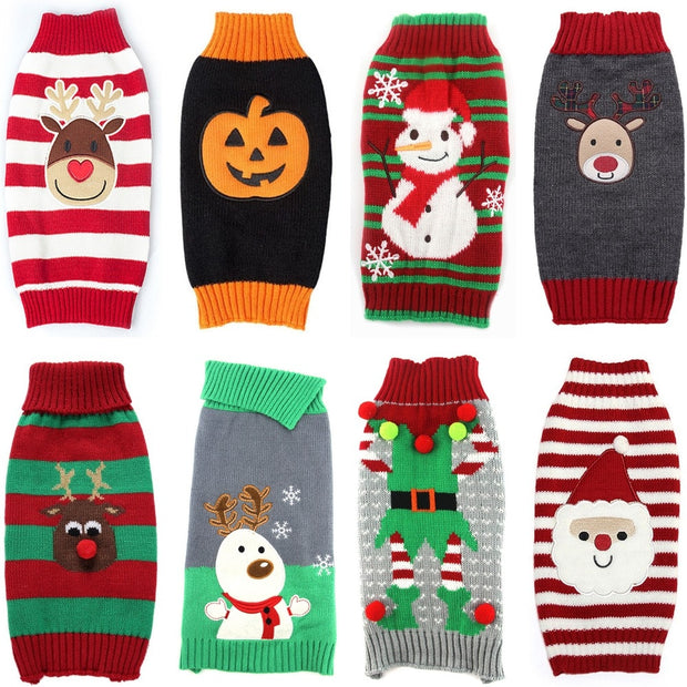 Halloween & Christmas Dog Sweaters