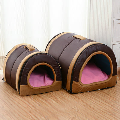 Multi-function Dog House With Foldable Mat