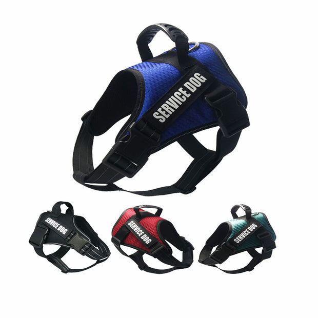 Dog Harness w/Reflective Breathable Mesh, NO Pull Handle,