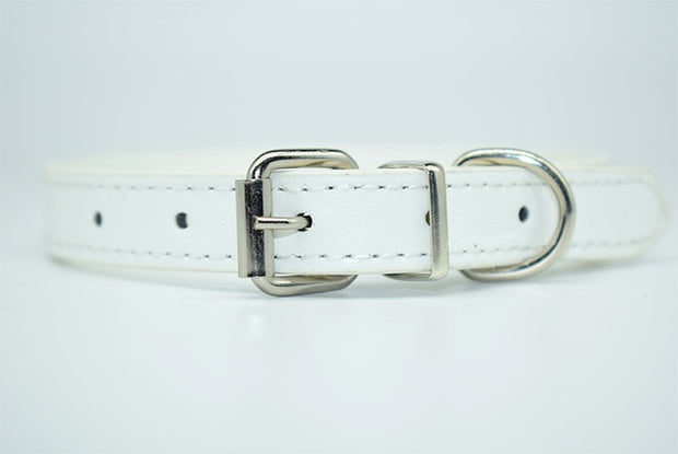 PU Leather Solid Color Soft Pet Dog Collar
