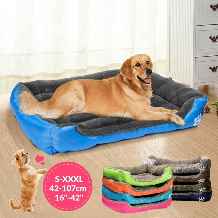 Multicolor Sleeping Bed with Puppy Soft Cushion keeps pets warm in winter