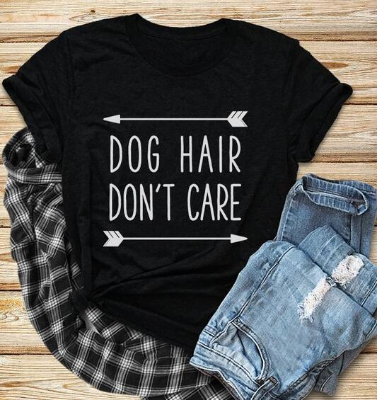Dog Hair Don't Care T-Shirt, Unisex