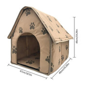 Footprint Dog House for Medium Dogs