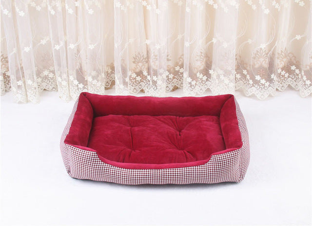 Dog Beds For Large Dogs - Berber & Fleece Warm Plush Beds