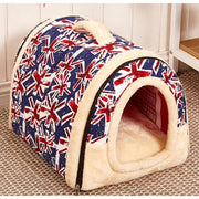 Dog House / Bed w/ Print Mat Foldable Dog Bed Pad
