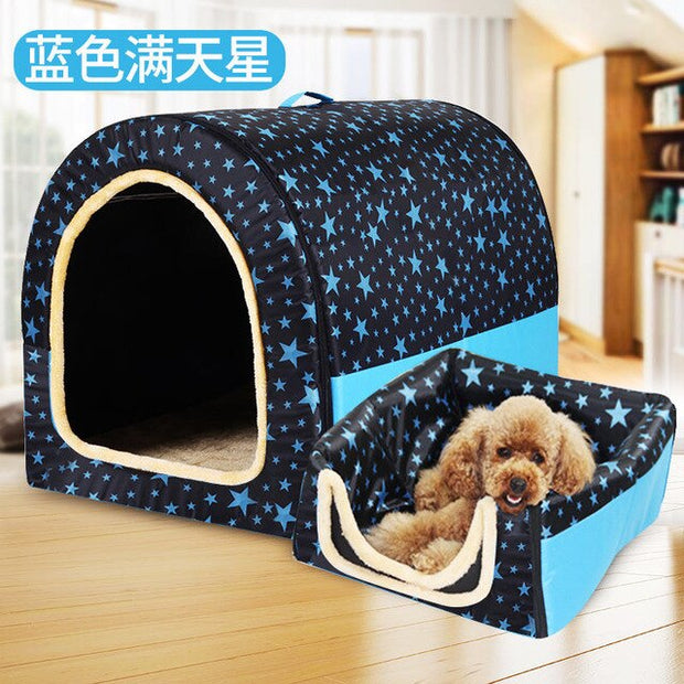 Stars Pet Dog House Foldable for Moving or Travel