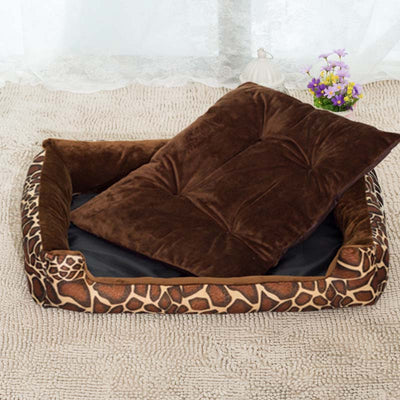 Leopard Striped Dog Beds For Small Dogs - Waterproof