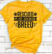 Rescued Is My favorite Breed T-Shirt