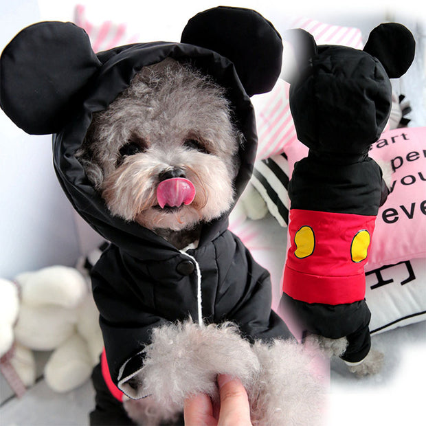 Cute Winter Warm Dog  Jumpsuit with ears