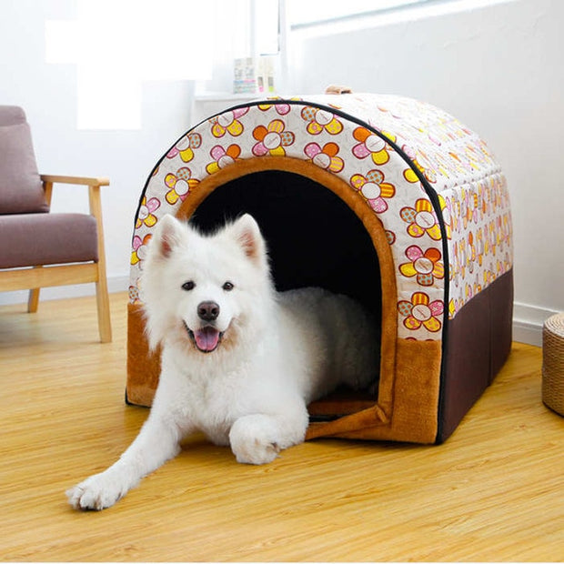 Soft Dog House & Bed Waterproof Covered For Large dogs