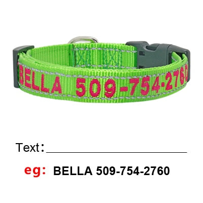 Personalized Dog Collar with Custom Embroidered Name