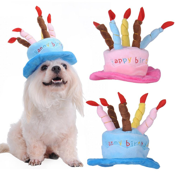 Caps For Dogs / Birthday Caps Hat with Cake Candles