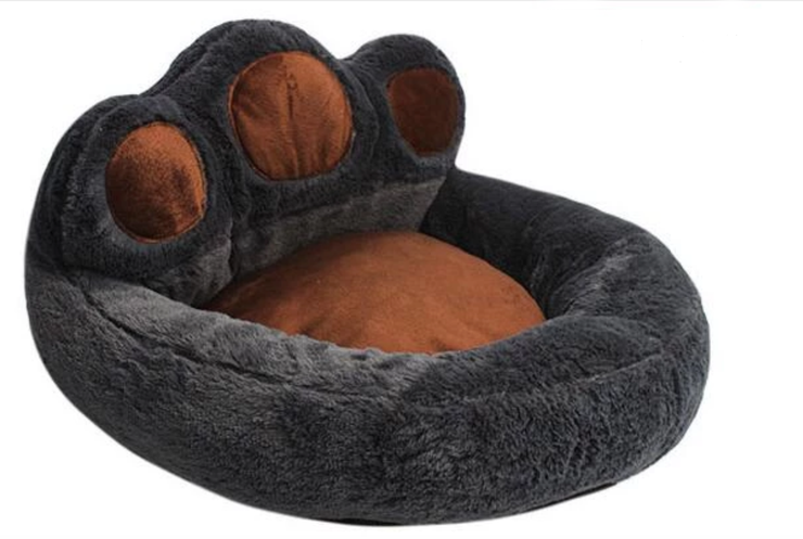 Creative Bear Footprint Dog Bed - Washable