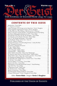Der Geist: The Journal of Egoism from 1845 to 1945  | Issue 1