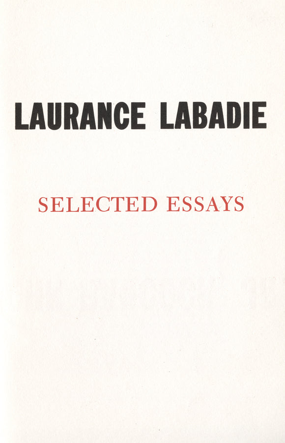 Selected Essays | Laurance Labadie | Libertarian Broadsides No. 7